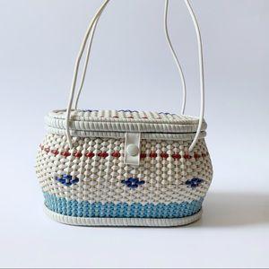 Vintage 1960s woven box purse